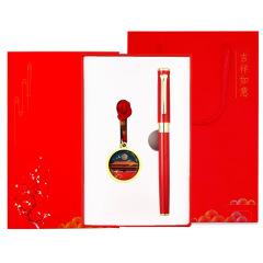 国潮风故宫元素8GU盘+签字笔礼盒套装 U盘可支持来图定制 商务礼品送什么合适