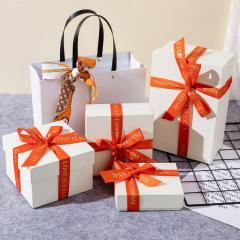 长方形蝴蝶结生日礼物盒伴手礼礼品盒 天地盖礼品包装盒 专业礼品定制