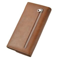 男士长款钱包复古手拿包多功能拉链手机包  员工礼品什么好