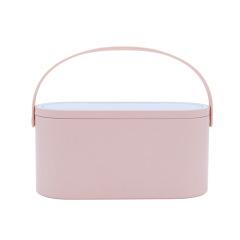 极简便携化妆镜化妆盒 LED台式收纳化妆镜 一物两用小助手 实用礼品的选择