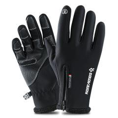 户外运动拉链保暖加绒手套 展会创意小礼品