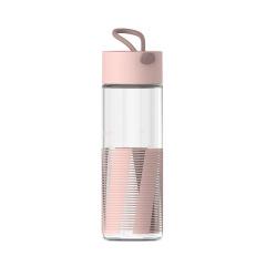 幾何系卡曼玻璃杯 防滑防燙手提水杯 時尚隨手杯350ML 隨身禮品定制