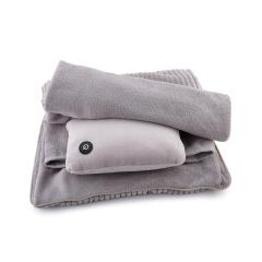 倍轻松(breo)商务组合毯 抱枕毯子按摩器三合一 居家办公差旅毛毯 实用员工礼物年会礼品