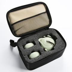 宋代名窑 定窑 一壶二杯旅行茶具礼品套装 茶杯茶道文化礼盒定制