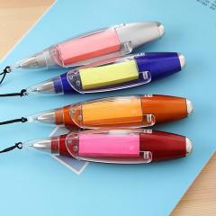 广告笔定制展会宣传 小巧便捷圆珠笔 多功能挂绳便签纸灯笔 展会礼品
