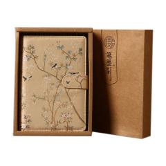 古典丝绸笔记本 商务复古记事本 中国风会议礼品