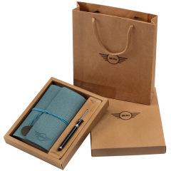 【礼盒款】变色PU皮活页手账本 时尚旅行手账记事本两件套 文创礼品