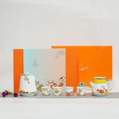 【秋月霓裳豪华版】2021年中秋节高档茶具套装 茶壶+茶叶罐各一个+茶杯四个茶礼组合 中秋节热销产品