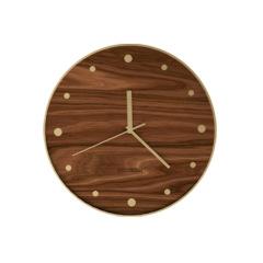 MUSOR 创意欧式12寸实木挂钟 静音轻奢家居挂钟 中高端创意礼品