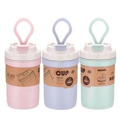 简约竹纤维汤杯 多用水杯 大容量防烫隔热杯 礼赠品定制