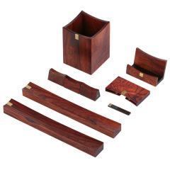 典藏铜木六件套 商务创意套装 特色纪念礼品