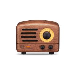 猫王收音机 创意复古花梨木原木蓝牙音箱 便携式家用重低音无线小音响 商务礼品推荐