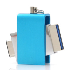 U盤定制 Type-C手機U盤高速U盤 商務金屬旋轉優盤 公司小禮品