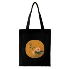 宋代花卉帆布袋流行休閑包中國風創意購物袋     特色小禮品