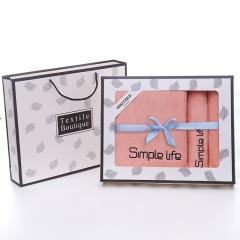 Simple Life毛巾礼盒三件套 1浴巾+2毛巾礼盒 房地产活动伴手礼
