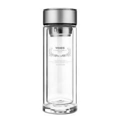 菲驰(VENES)博锐玻璃直杯水晶玻璃水杯双层耐热办公室茶水杯 100元礼品有哪些