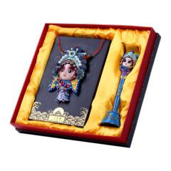 中國特色商務禮品 臉譜人物擺件套裝 樹脂工藝擺件禮盒