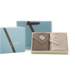 竹印象 全竹物语 四季全竹轻柔毛巾两件套 祥和四季礼盒 企业送员工生日礼物