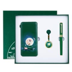 国潮荷韵充电宝+16gU盘+签字笔礼盒套装 商务礼品实用定制