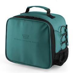 大容量保温便当包 时尚款式纯色PU 员工活动有哪些小礼品