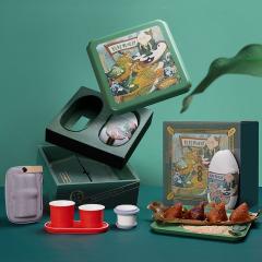 【一人一席】2021年端午节粽子礼盒 茶具粽子组合套装礼盒 商务礼品送什么合适
