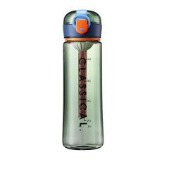 个性撞色弹盖塑料杯 便携运动水杯500ML 健身礼品