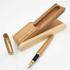 创意竹子钢笔套装精品 环保竹子笔盒定制    商务礼品
