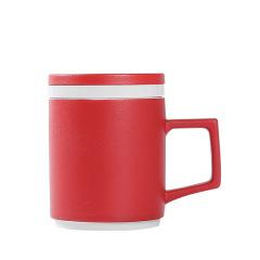 商务陶瓷茶杯带盖过滤泡茶水杯带礼盒 商务礼品定制