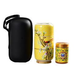 【茶生活】珐琅彩陶瓷快客杯 便捷旅行茶具套装 适合公司举办活动发的奖品
