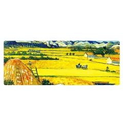 【麥田】精美設計梵高油畫大號鼠標墊 有個性的藝術風格 精密鎖邊 個性創意禮品