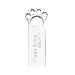 金屬貓爪 高性能芯片 車載可愛迷你女生 個性定制logo防水優盤 廣告促銷禮品