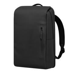地平线8号 磨砂PU革防水耐磨双肩包(黑色) 独立电脑仓电脑包 员工生日礼物