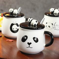 lazy panda 创意萌宠国宝熊猫陶瓷杯 办公咖啡杯 端午节送什么礼品好