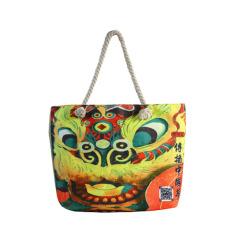 醒狮系列亚麻手拎包 中国文化元素帆布包 文创礼品