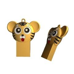 2022年虎年纪念卡通老虎金属U盘 可定制logo 企业定制小礼品