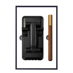 【甄选好物】商务复古科技礼盒套装 可充电手机支架+木笔 伴手礼送什么好
