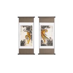 【虎】真絲織錦掛畫  書房辦公室裝飾 高端商務禮品定制