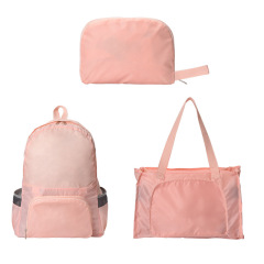 两用折叠背包手提包 超轻便携大容量登山包折叠包 旅游小礼品