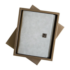 油蜡牛胎皮活页本礼盒装 创意商务礼品