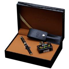 英雄(Hero) 豪华铱金墨水钢笔 鳄鱼皮纹礼盒 高端商务办公礼品