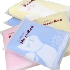 日本MonoRed 卡通全棉100%无捻亲肤提花刺绣浴巾毛巾礼品定制