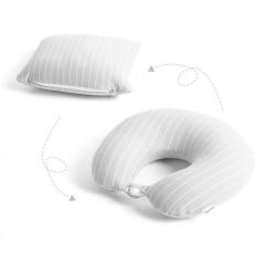 可变形泡沫粒子护颈U型枕 创意旅行便携枕头 商场活动礼
