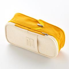 文具袋铅简约文具学生笔盒大学生 手感舒适帆布表面大容量笔盒笔袋