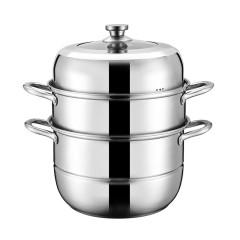 不锈钢三层蒸锅超大容量带蒸格一锅多用32cm 员工关怀礼品