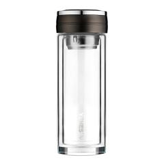菲驰(VENES)雅尚玻璃杯简约加厚双层玻璃杯 银行送客户什么礼品好