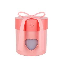 心意禮物盒加濕器 三合一USB迷你小夜燈風扇加濕器 辦公家用桌面小巧禮盒加濕器 秋冬有創意的小禮品