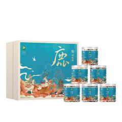 【煜见国潮】煜新禧·鹿-限量款海产干货礼盒 对虾干+蛤肉干+淡菜
