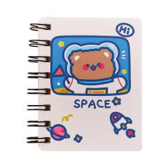 A7迷你小号笔记本 宇航员侧翻线圈本 活动小礼品