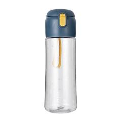 提绳透明弹跳杯 大容量塑料水杯650ML 实用的礼品