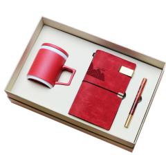 【造物】粗陶杯+笔记本+红木笔 匠心商务礼盒三件套 送客户礼品推荐